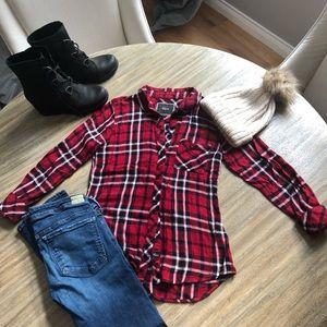 RAILS Red/black flannel shirt